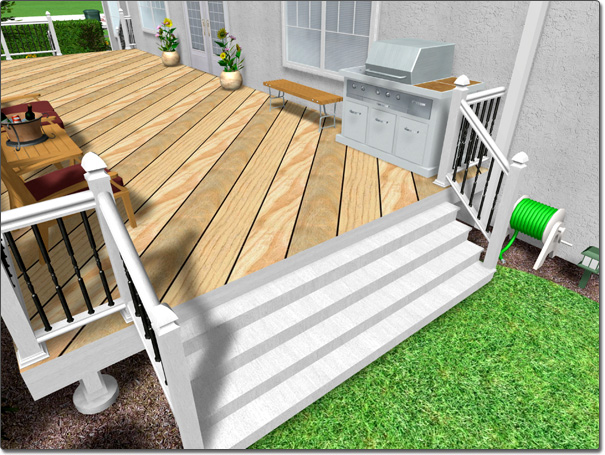 adding deck stairs