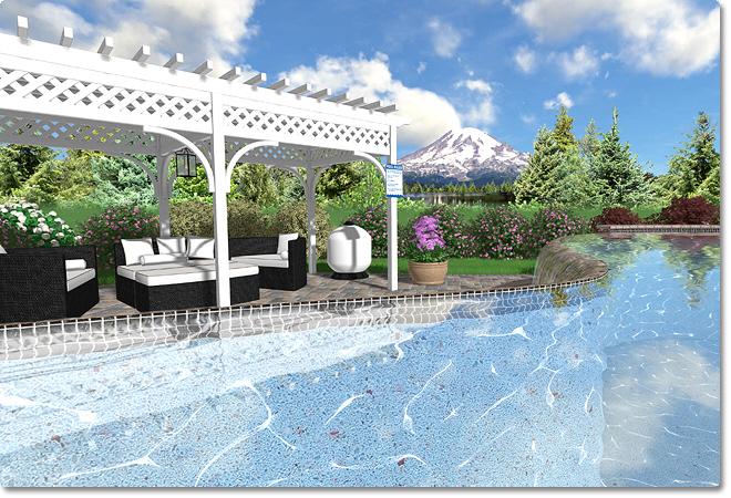 Adding a swimming pool - Invisible edge pool ...