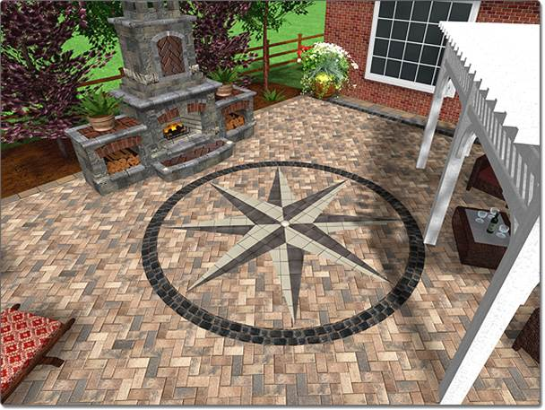 adding an accent shape - Patio Design Software