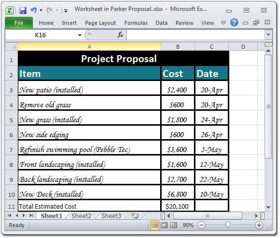 Creating a Project Material List – Material List