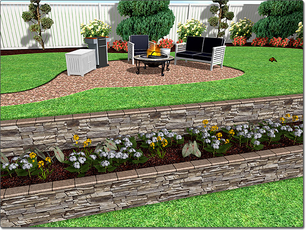 Adding a retaining wall for Terrace landscape
