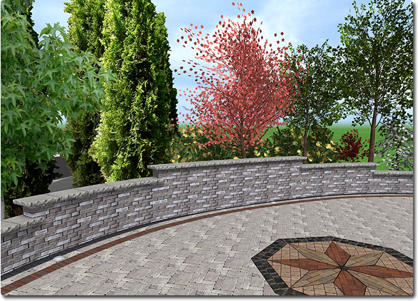 stepped retaining wall design idea
