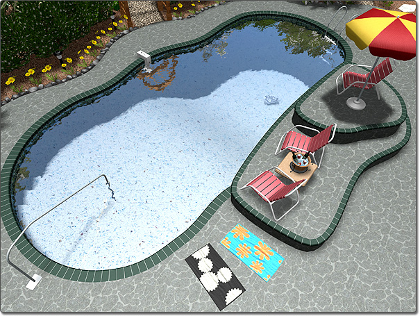 Adding pool decking for Pool design help