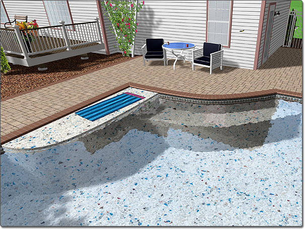 Adding a pool seat for Pool design help