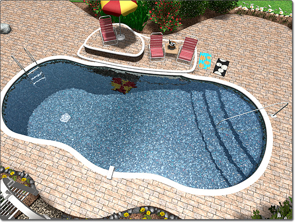 Swimming pool wizard for Swimming pool landscape design