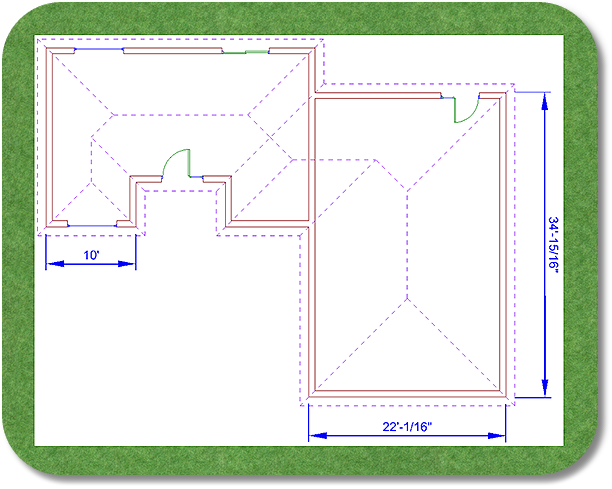 Landscape design software adding an overlay heres the same design after the house has been added using the add house tool malvernweather Choice Image