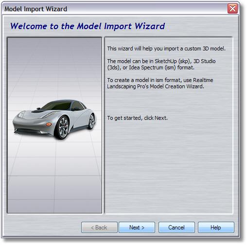 Landscape Design Software - Model Import Wizard