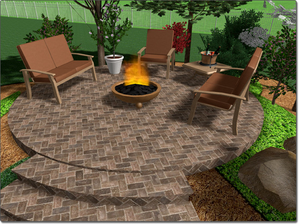 landscape design software adding a patio - Patio Design Software