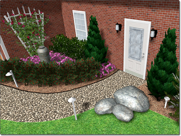 Landscape Design Software - Adding a Rock