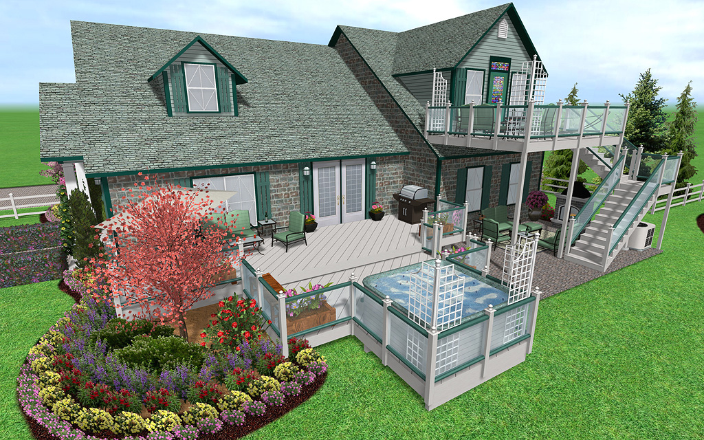 Landscape design software by idea spectrum realtime landscaping pro features Design my own home