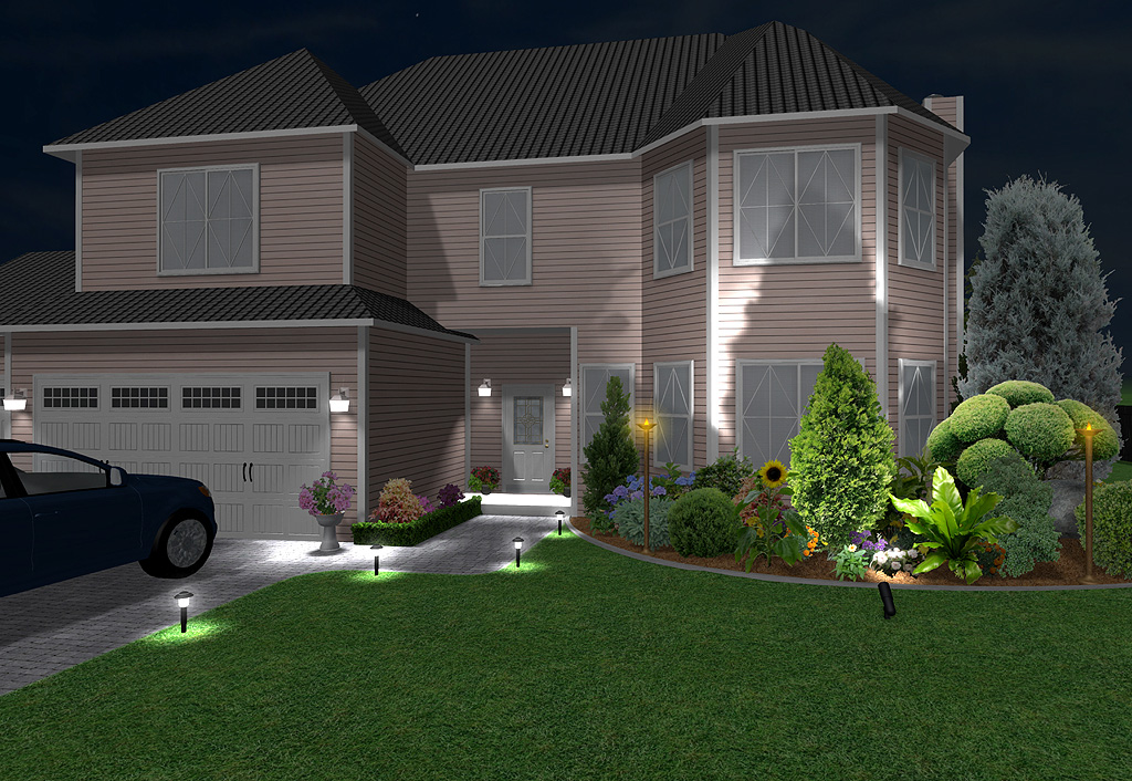 Landscape design software features realtime landscaping plus for Exterior lighting design