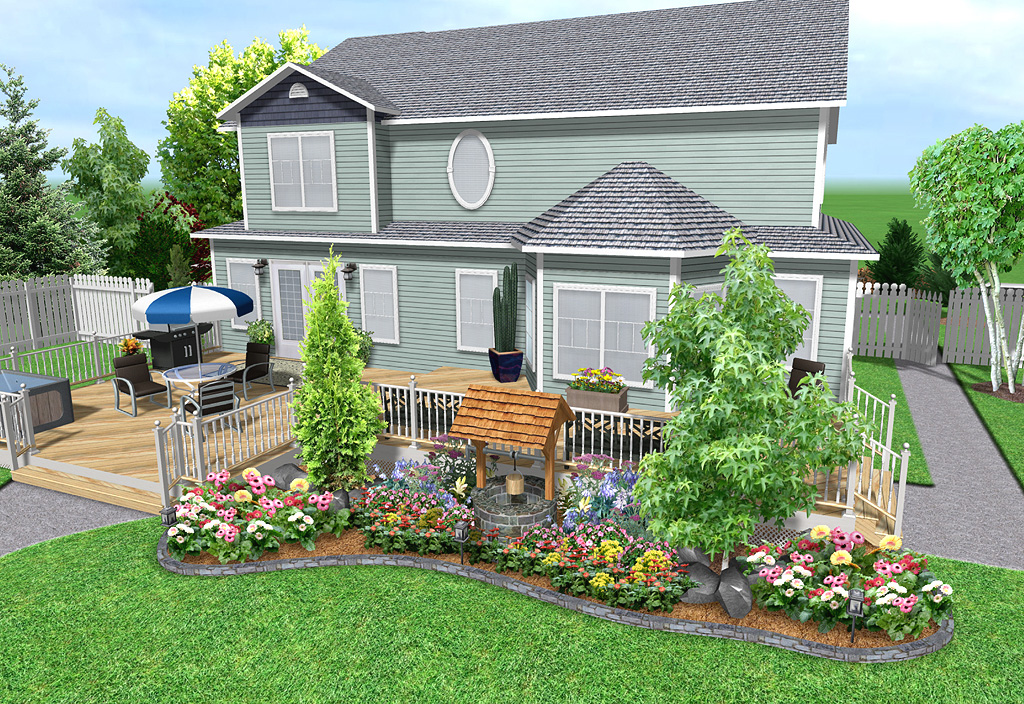 Landscape design software features realtime landscaping plus for Backyard landscape design ideas