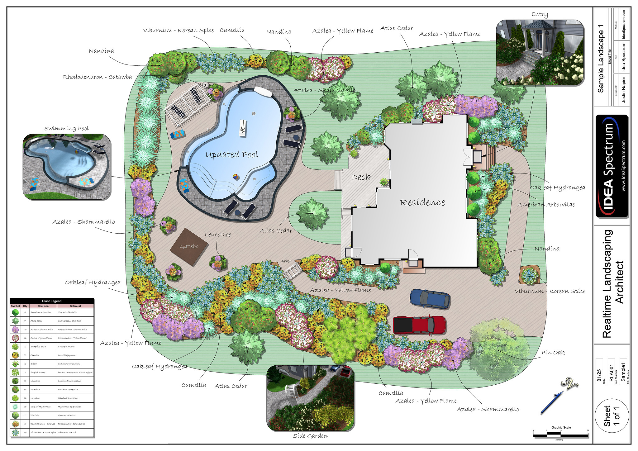 Landscape design software by idea spectrum realtime for Sample landscape plan
