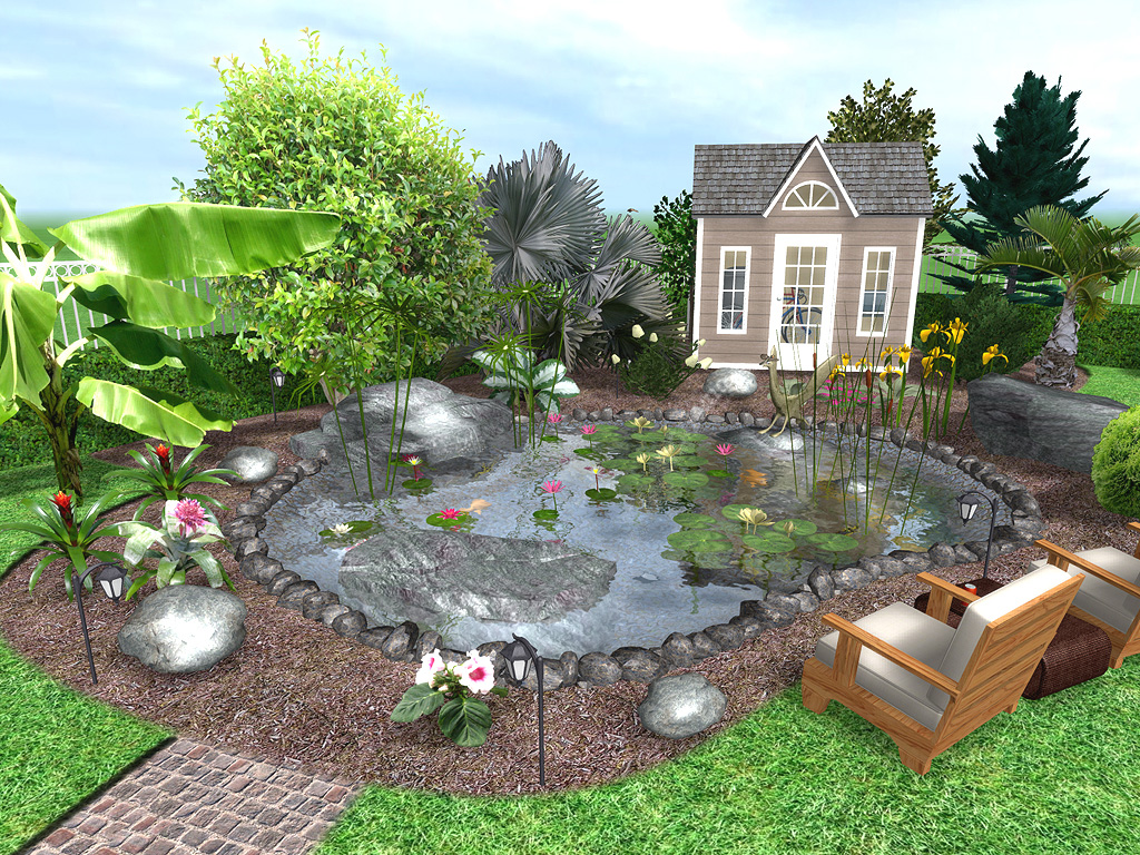 Ideas for affordable garden design home designer for Water landscape design