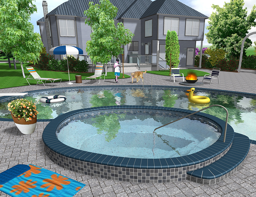 Backyard Pool Design Tool : Landscape Design Software by Idea Spectrum  Realtime Landscaping Pro