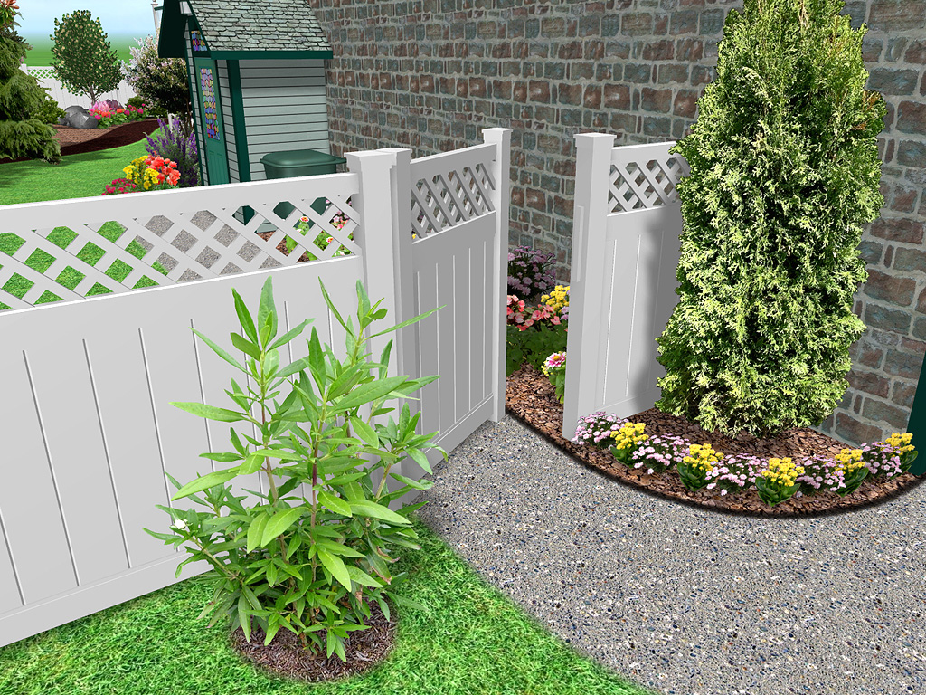 Landscape design software by idea spectrum realtime for Decorative fence ideas