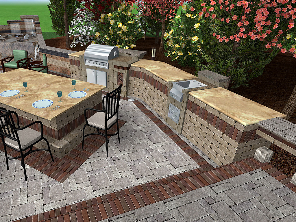 Landscape Design Unilock Pavers Large