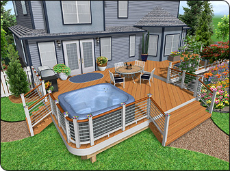 home landscaping software - Deck And Patio Design