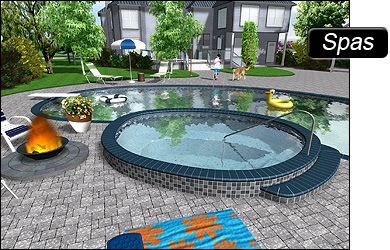 Pool Designs With Spa. Free Design For Pool Ideas 18 Designs With ...