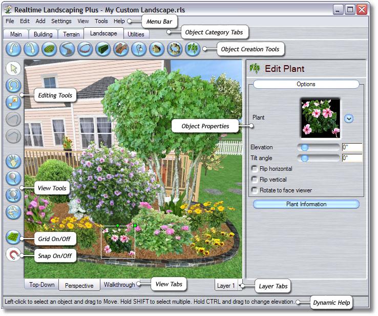 Home Landscape Software Features: Landscape Design Software By Idea Spectrum