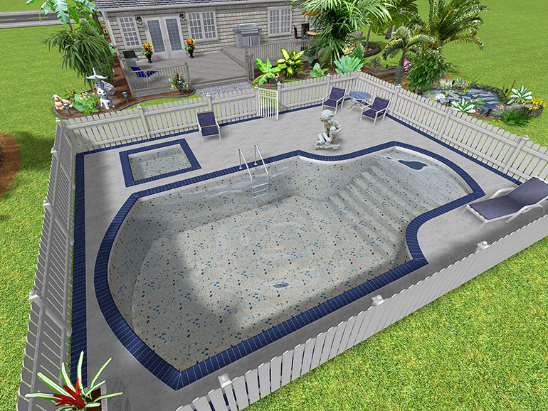 Landscape design software gallery page 1 for In ground pool plans