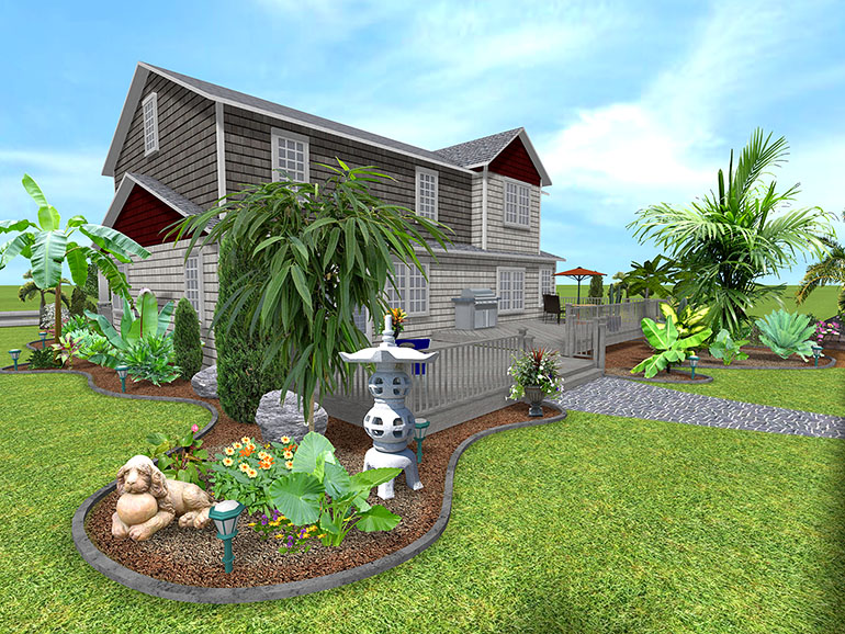 Landscaping ideas palm trees Create a landscaping