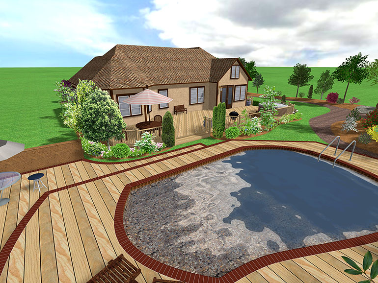 Landscape design software gallery page 3 for Pool design free software