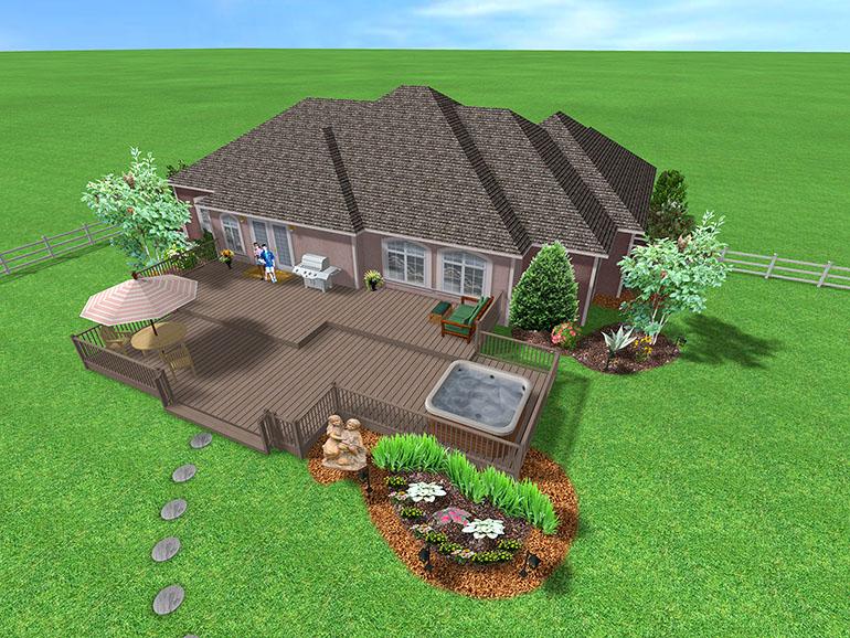 Backyard Landscape Design Tool best landscape design apps ipad iphone android Multilevel Deck Design
