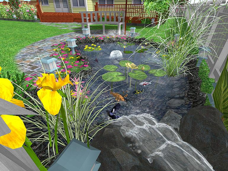 Landscape design software gallery page 3 for Design a pond software