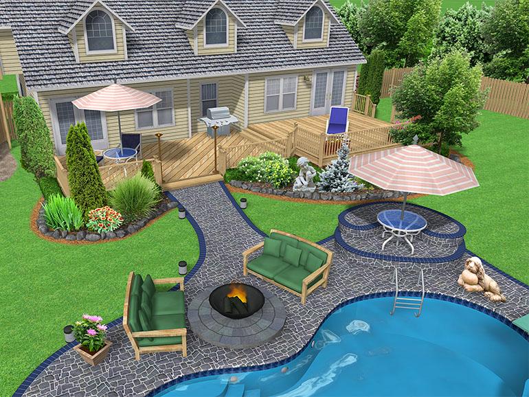 تصميم الحديقة المنزلية و تخطيط