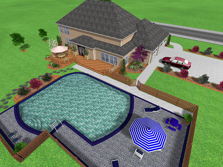 Landscape design software gallery page 5 for Swimming pool design layout