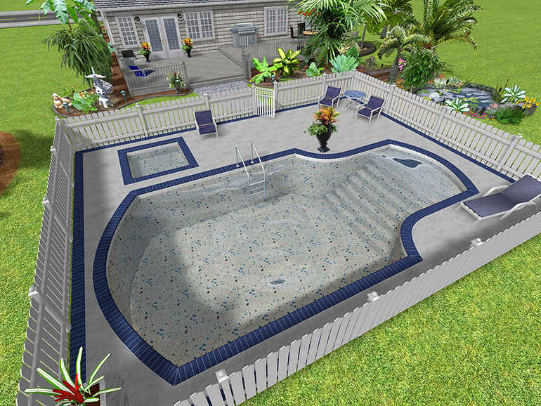 Landscape design software gallery page 1 for Swimming pool landscape design