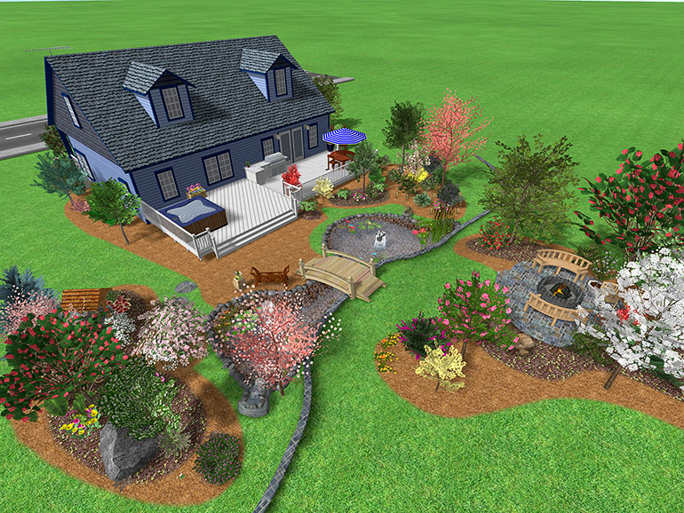 Landscape design software gallery page 1 for Large backyard landscaping ideas