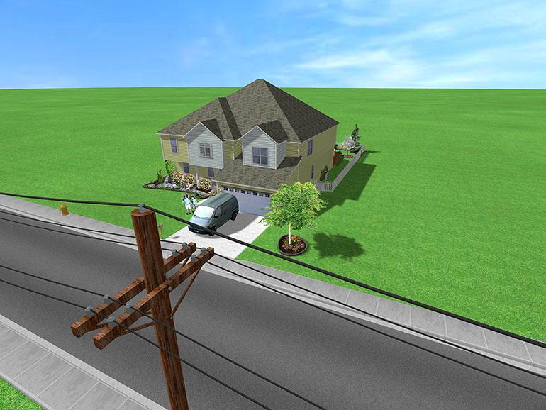 Create realistic landscape
