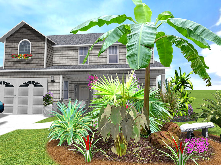 Tropical garden design photos house beautiful design for Tropical home garden design