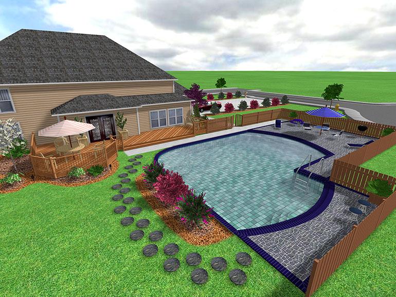 Landscape design software gallery page 5 for Pool deck design tool