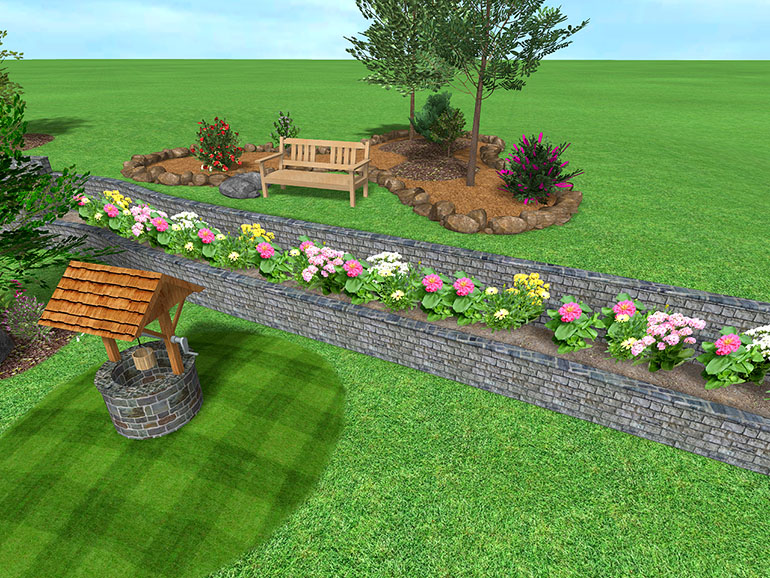 Small Uneven Backyard Ideas : design software, you can create sloping backyards and other uneven