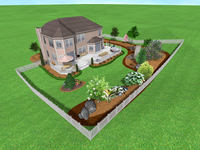 Landscape design software gallery page 5 for Large lot landscaping ideas
