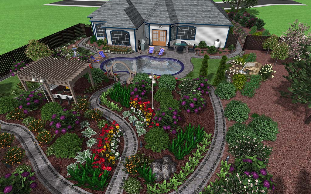 Professional landscape design software gallery for Home garden landscape designs