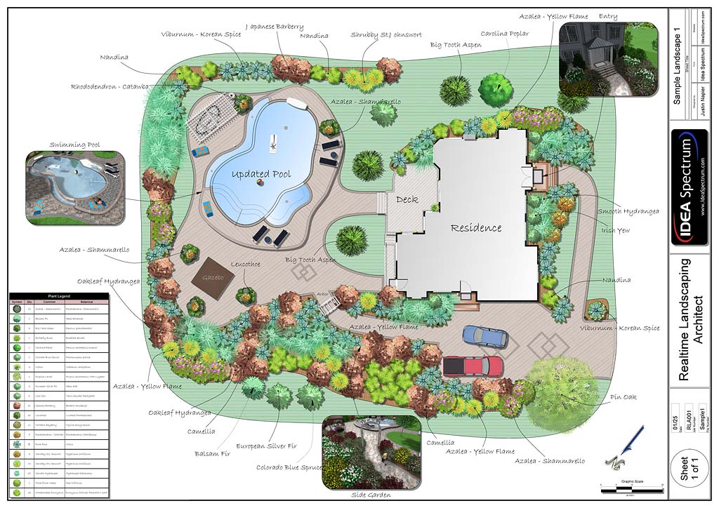 Professional landscape design software gallery for Landscape design plans