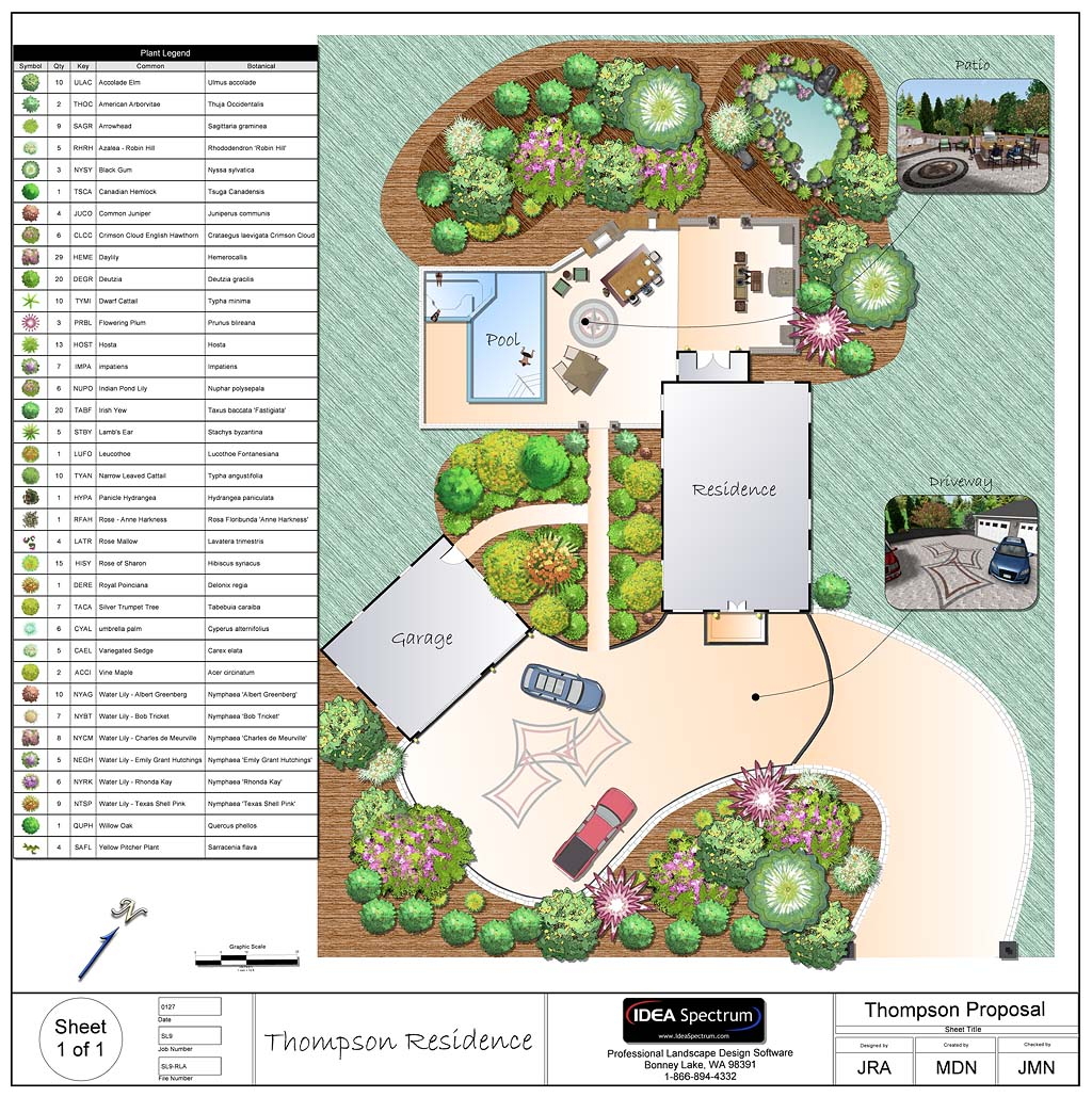 Professional landscape design software gallery for Landscape garden design plans
