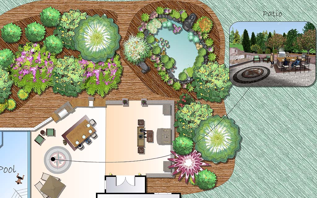 Professional landscape design software gallery for 3d garden design