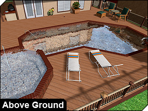 Charmant Design Below Ground And Above Ground Pools