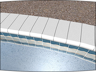Realistic Pool Tile and Coping