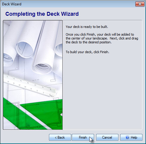 Click Finish to complete the last step of the Deck Wizard