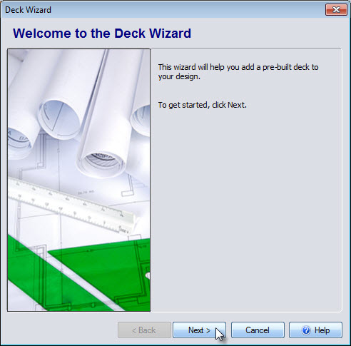 Welcome menu of the Deck Wizard