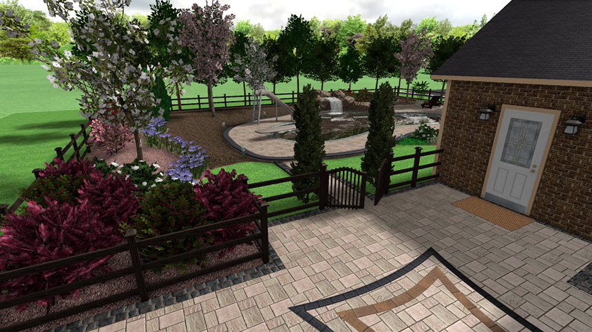 You have now completed adding a fence using Realtime Landscaping Architect