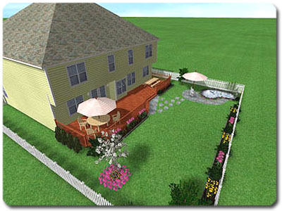 Design  Yard on Sloping Yard Design Tutorial For Realtime Landscaping Pro