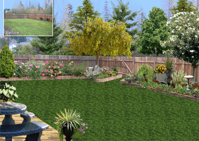 Backyard Design Over Photo