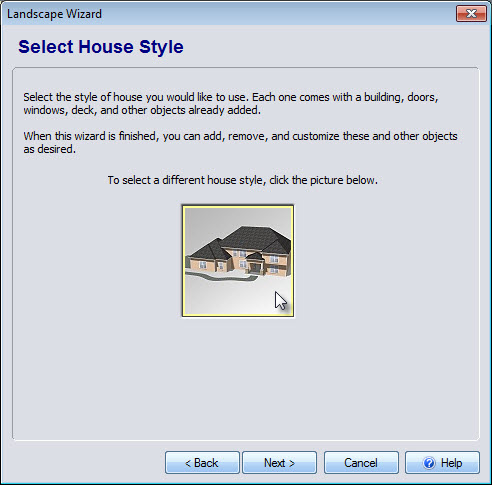 Select a house in the Wizard